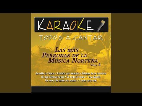 Árboles De La Barranca (Karaoke Version) (Originally Performed By Antonio Aguilar)