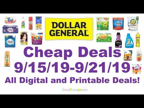 Dollar General Cheap Deals 9/15/19-9/21/19! All Digital and Printable Coupon Deals!