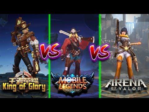 King of Glory VS Mobile Legends VS Arena of Valor