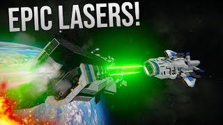 EPIC BEAM LASERS! - Spinal Laser Weaponry - Space Engineers