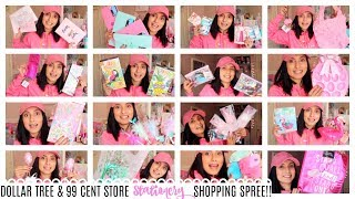 DOLLAR TREE & 99 CENT STORE STATIONERY SHOPPING SPREE!!! CUTENESS OVERLOAD!!!