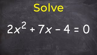 Solving a quadratic by completing the square thumbnail