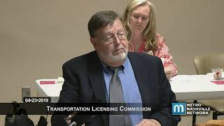 04/23/2019 Transportation Licensing Commission Meeting