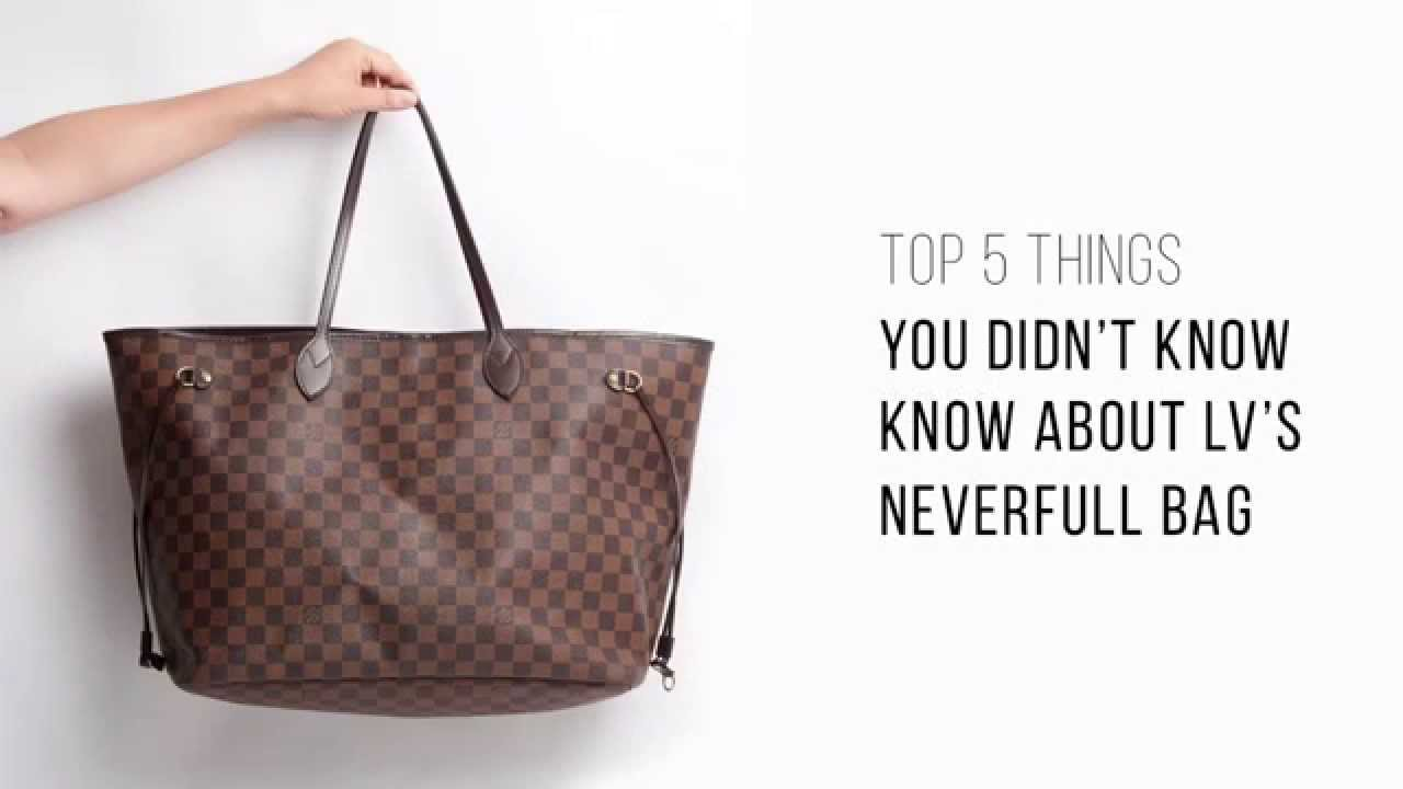 50bc040dc7e1 Top 5 things you didn t know about LV s Neverfull bag - YouTube
