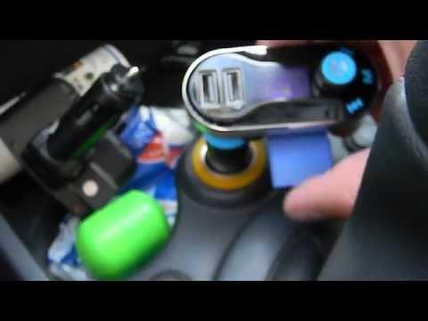 Bluetooth FM Auto Transmitter Ladegerät Freisprecheinrichtung Dual Usb SD Karte MP3 Player