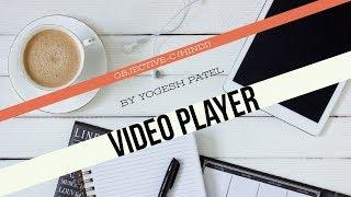 الهدف ج :- كيفية إنشاء وتشغيل الفيديو الخلفية مع مشغل(AVPlayer) أحدث 2017(Hindi)