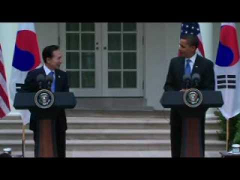 President Obama Speaking Korean