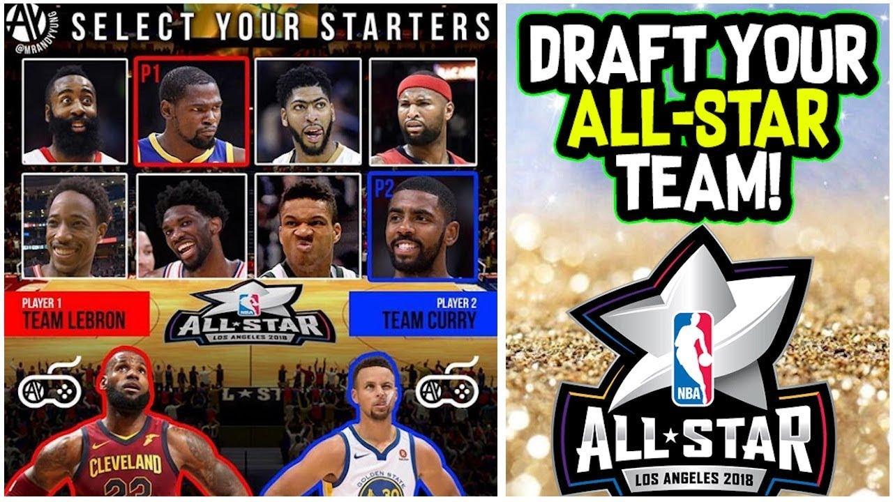 1cb324ecb DRAFT YOUR 2018 NBA ALL-STAR TEAM! TEAM LEBRON JAMES VS TEAM STEPHEN CURRY! PLAYOFF  SERIES SIMULATOR