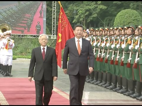 Vietnamese Communist Party Chief Holds Welcome Ceremony for China's Xi