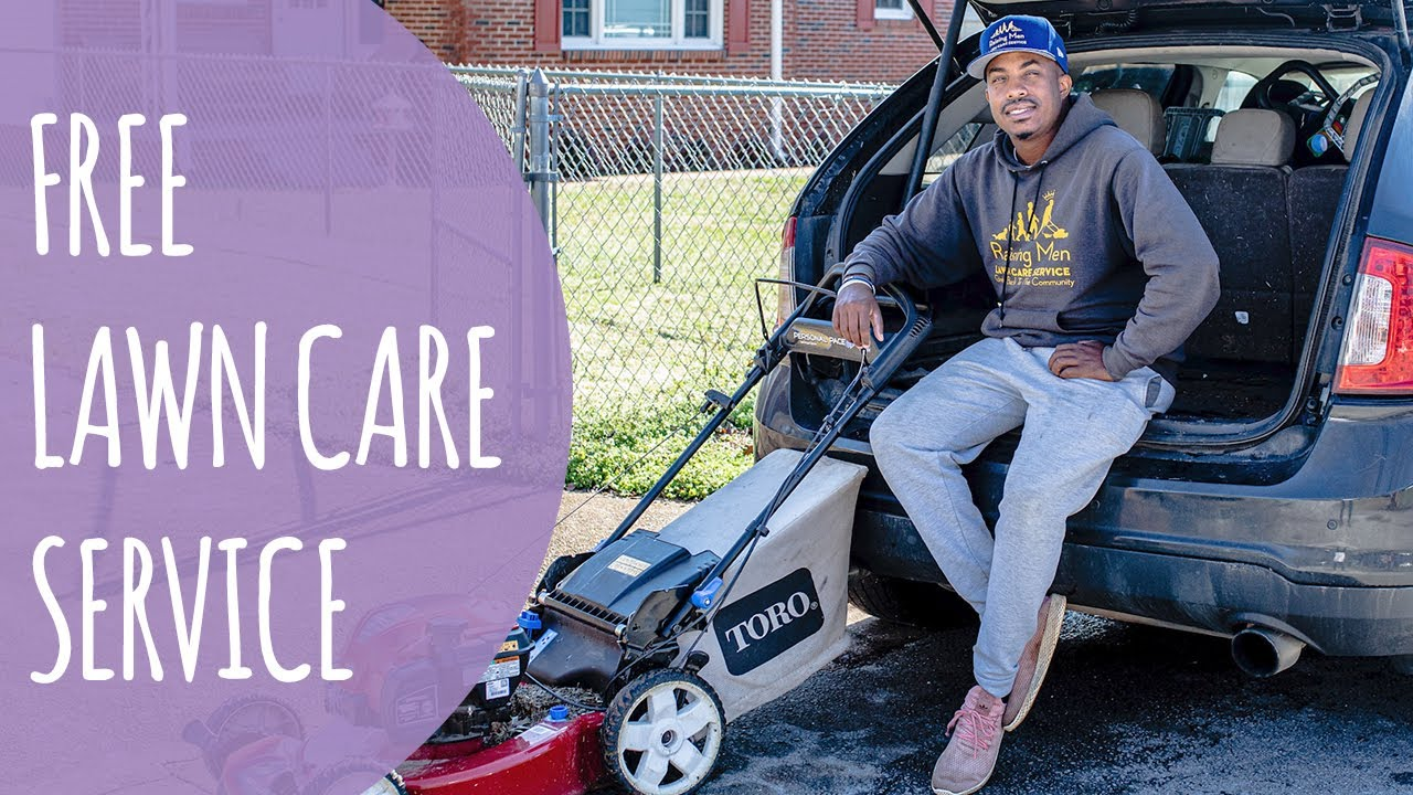 Man Provides Free Lawn Care Service For Elderly And Others Youtube