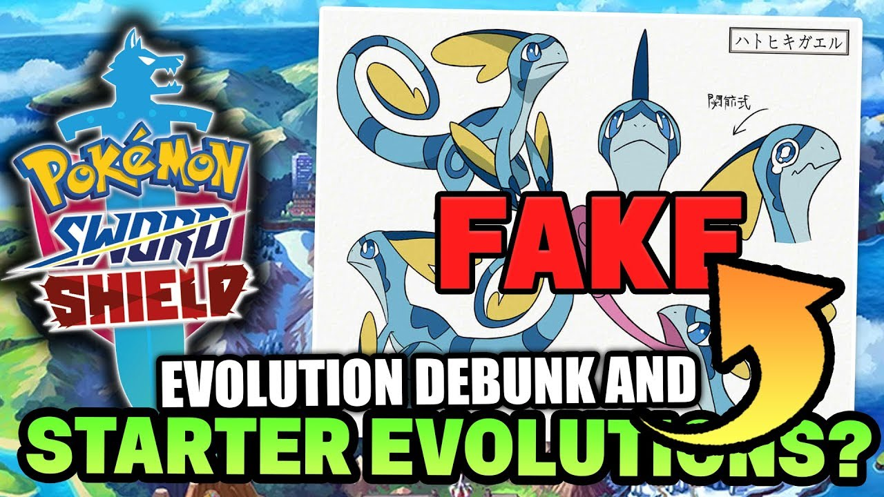 New Pokemon Sword and Shield RUMOUR!? Evolutions Concept art & Starter  Evolution Names! - YouTube