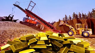 I Found The Motherload Of Gold Ore - 700 Gram Gold Nugget!? - Gold Rush The Game