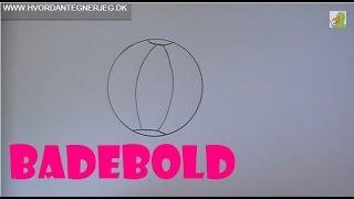 Lær at tegne EN BADEBOLD | HVORDANTEGNERJEG.DK