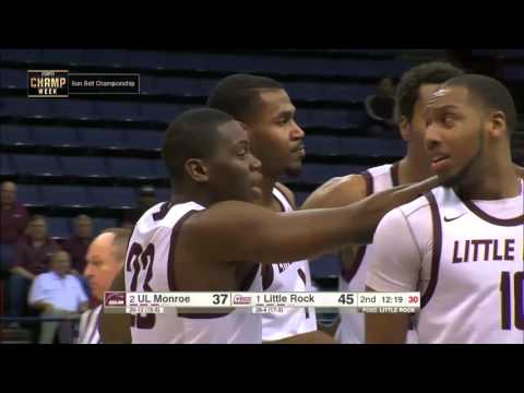 2016 Sun Belt Conference Men's Basketball Championship Game Highlights Little Rock vs. UL Monroe
