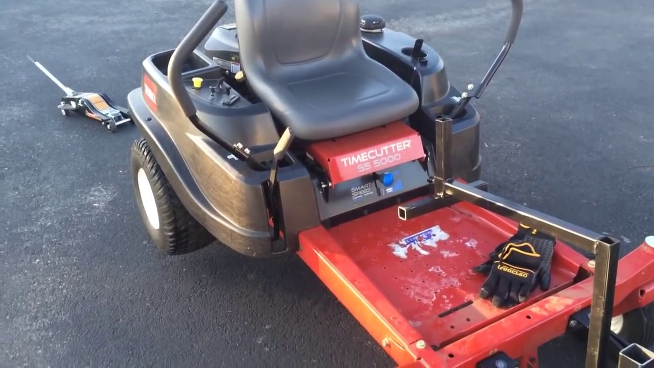 maxresdefault toro timecutter zero turn mower tracking adjustment youtube Toro Z420 Right Transaxle Replacement at bayanpartner.co