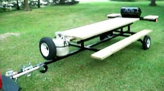 Building A Towable Picnic Table YouTube - Picnic table trailer