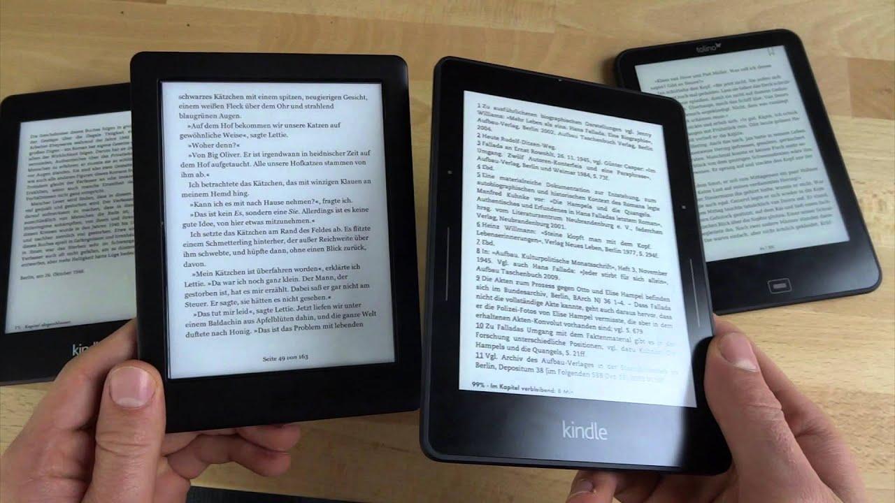 Kindle Vs Sony Reader: Kobo Glo HD Vs. Tolino Vision 2 Vs. Kindle Voyage Vs