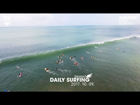 파도좋아요~ 씐나게 달려 봅시다~ 2017.10.9 Barusurf Daily Surfing