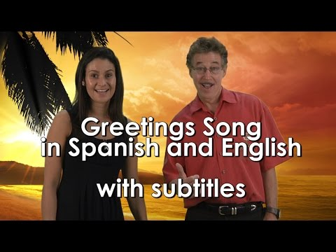 Greetings Song For Kids In Spanish And English With Subtitles | Jack Hartmann