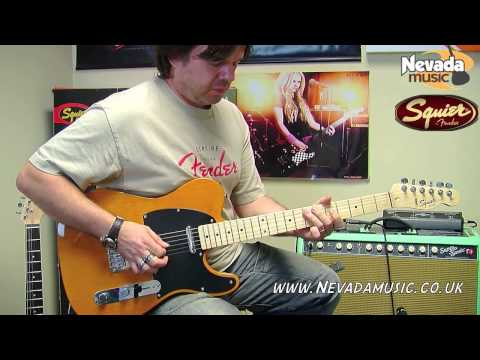 Squier Affinity Telecaster Blonde Demo - Damon @ Nevada Music UK