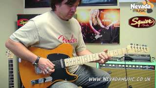 Squier Affinity Telecaster Blonde Demo - Damon @ PMT