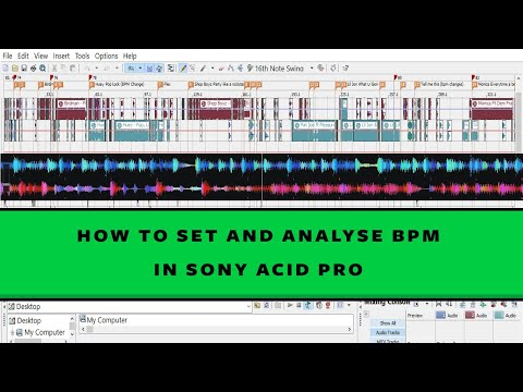HOW TO SET AND ANALYSE BPM ON SONY ACID PRO