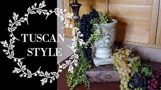TUSCAN STYLE DECOR - DECORATE WITH ME - DECORATE TO MUSIC