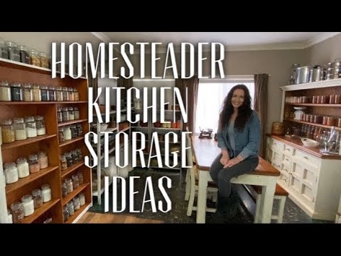 CREATE A BUDGET HOMESTEAD KITCHEN - Organising Storage Tips for New & Renting Homesteaders
