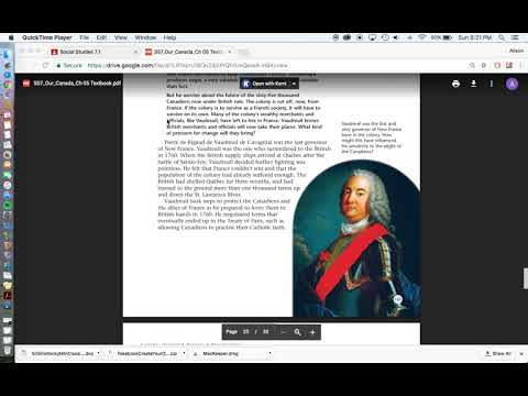Chapter 5  p 155 268 Battle of Plains of Abraham, Royal Proclomation, Quebec Act