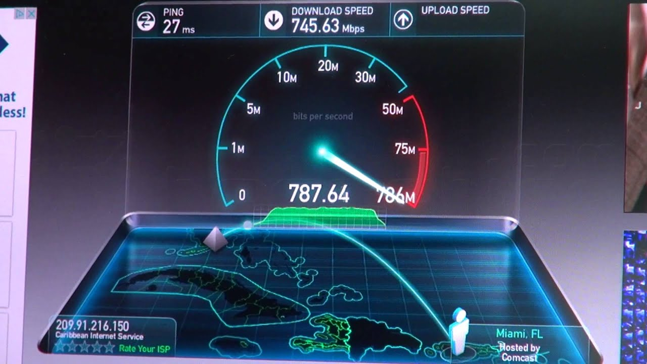 Probando 178 Internet Gigabit 1 000 Megabits Por Segundo