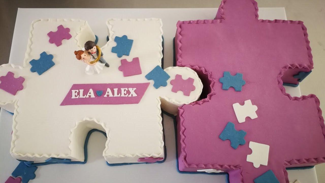 Making Of Hochzeitstorte In Puzzle Form Puzzle Torte Zur Hochzeit