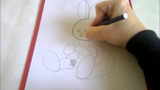 КАК НАРИСОВАТЬ ЗАЙЦА (очень просто, для начинающих)(Здравствуйте! Предлагаю вашему вниманию видеоролик, где я показываю, как очень просто нарисовать заичика..., 2015-02-25T11:14:30.000Z)