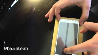 How to install a screen protector on a Samsung Galaxy S4