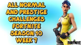Temporada 10 Team Spirit Week 7 Todos los desafíos - Fortnite Battle Royale (LEAKED)