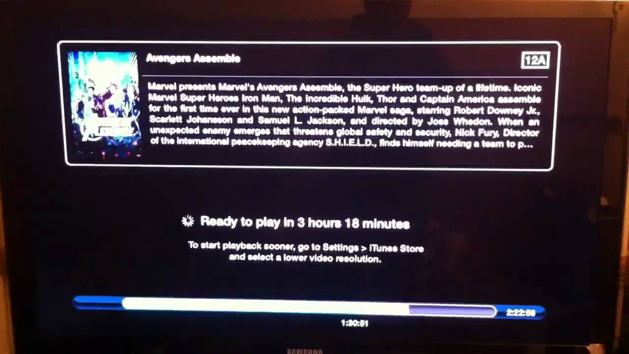 Apple TV rental slow