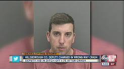 HCSO: Hillsborough Co. deputy arrested for DUI after crash, was hiding in ditch