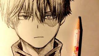 ASMR | Pencil Drawing 107 | Shoto Todoroki (Request)