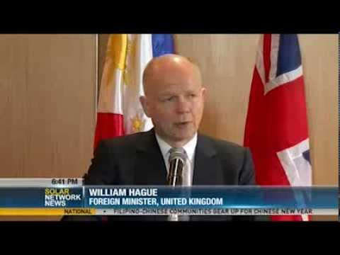 UK Foreign Minister William Hague lauds PH, MILF peace deal