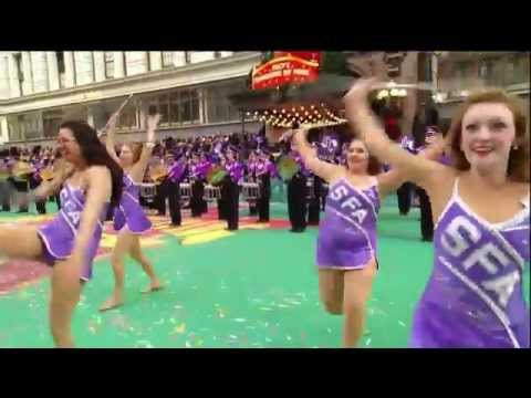 Stephen F. Austin State University Lumberjack Marching Band in Macy's Thanksgiving Day Parade 2015
