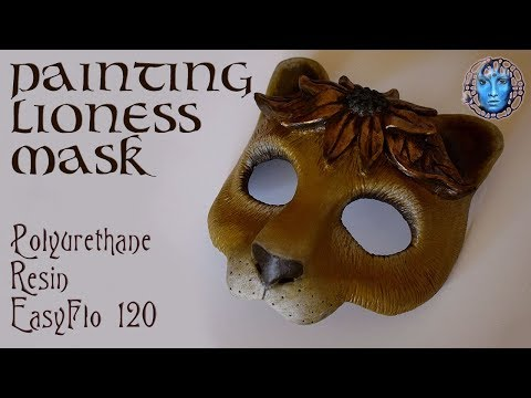 Painting Lioness Masquerade/Cosplay Mask | Polyurethane Resin | EasyFlo 120