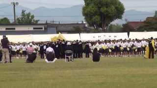 第二回あさぎり中学校体育大会黄団応援