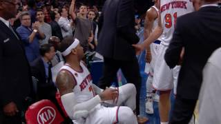 carmelo anthony hits the clutch game winning shot l 11 25 16