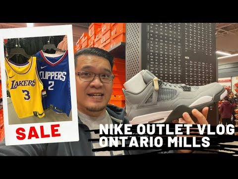 Nike Factory Outlet Store Vlog @ Ontario Mills Outlets - Ontario, CA - Air Jordan I Cortez I Air Max