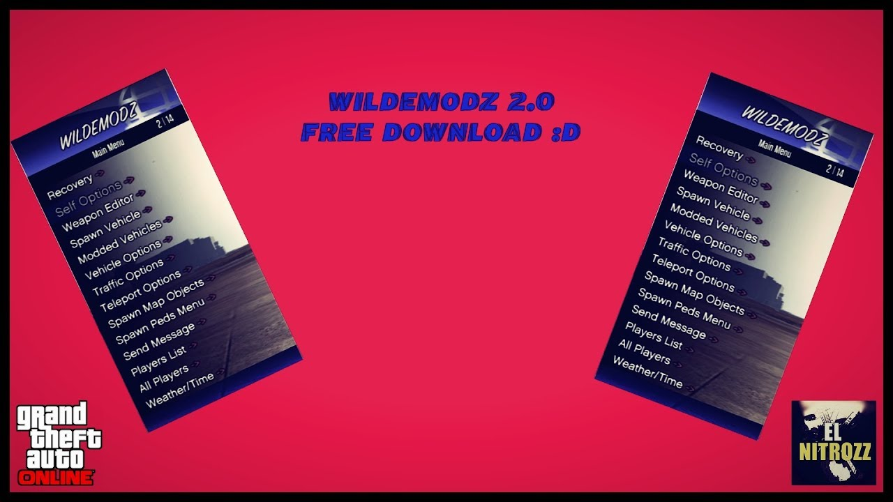 [1 27/1 28]GTA 5 Online PS3   MOD MENU WILDE MODZ SPRX 2 0 DEX/CEX/BLES  +DOWNLOAD