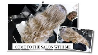 COME TO THE HAIR SALON WITH ME   HAIRCARE ROUTINE HOW TO BLONDE BABYLIGHTS BALAYAGE