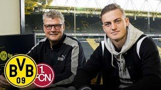 Jacob Bruun Larsen's first visit at the BVB Matchday Magazine | BVB - 1. FC Nürnberg | Matchday 5