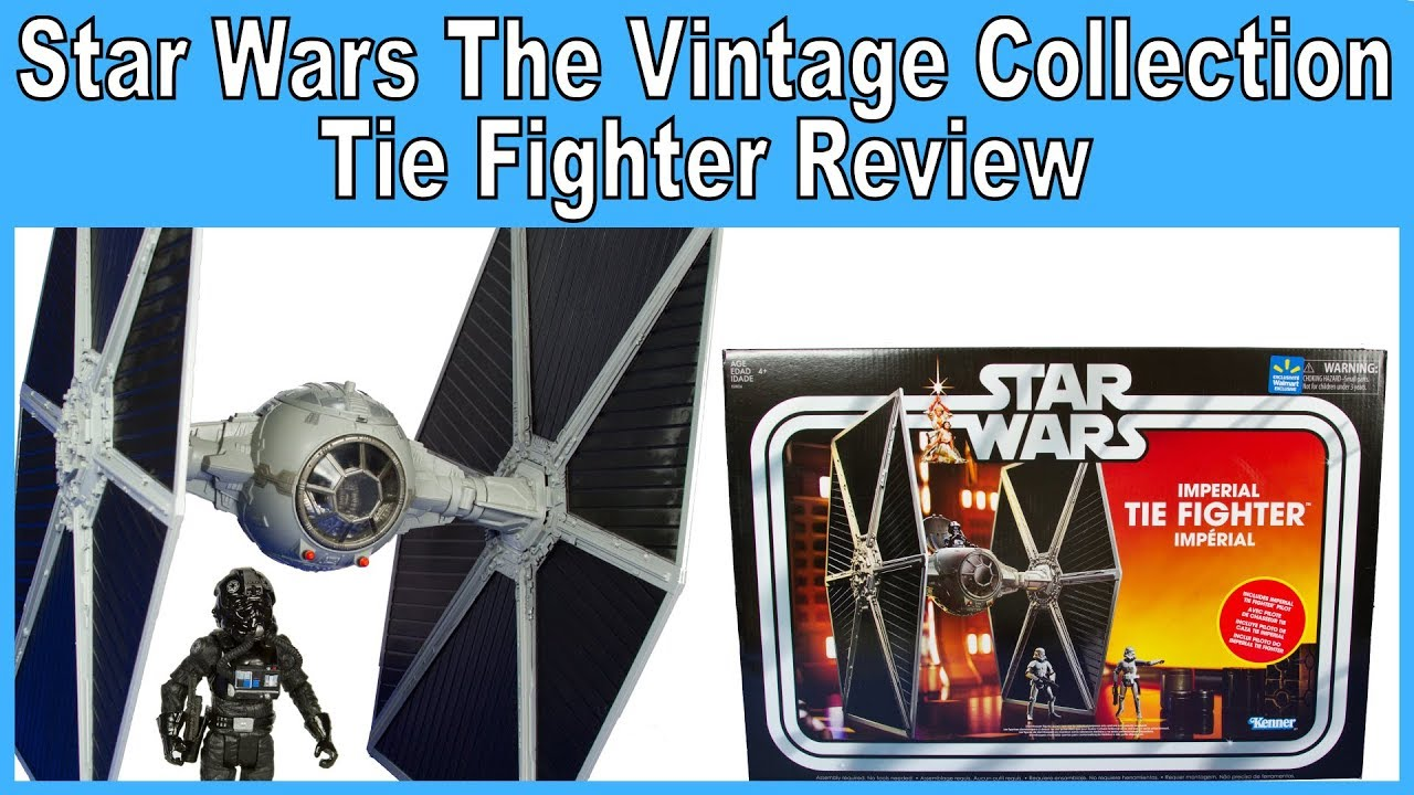 Star Wars Imperial Tie Fighter The Vintage Collection Walmart Exclusive w Pilot