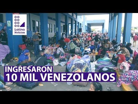 Tumbes: diez mil venezolanos ingresaron al país el último fin de semana | 90 Mediodía