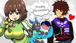 Gambar cover Reading 18+ Fanfictions: Frisky Encounters Chapter 1 - Frisk X Chara w/AthenaTheWitch