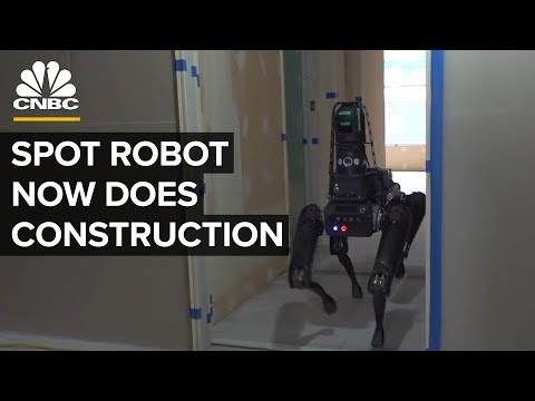 Boston Dynamics' Robot Spot Inspects Construction